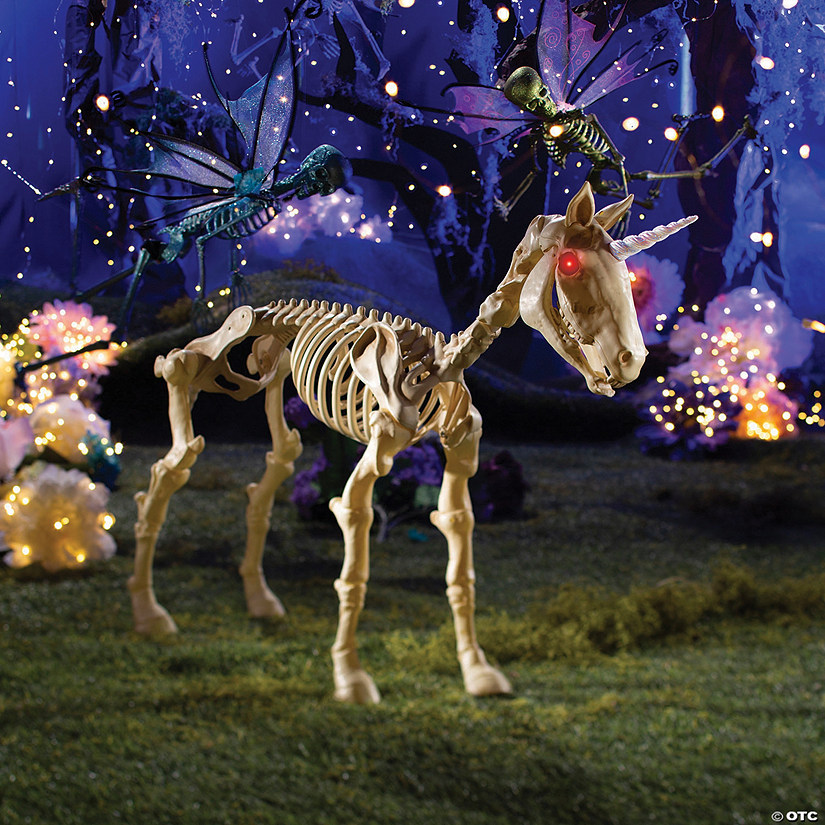 Unicorn Skeleton Halloween Decoration Image Thumbnail