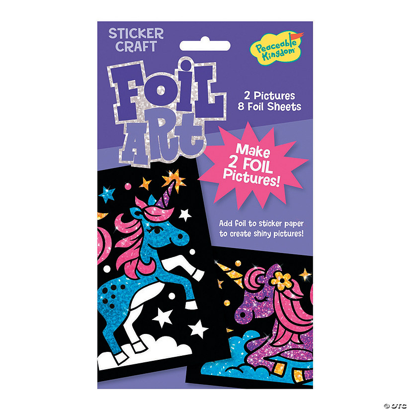 Unicorns Foil Art Sticker Pack Image Thumbnail