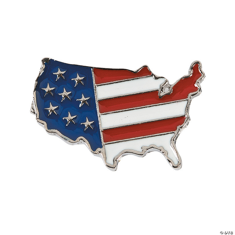 United States Flag Print Pins