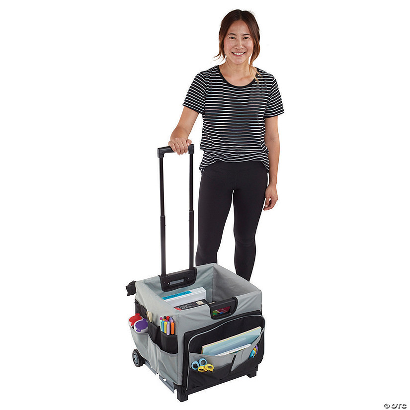 Universal Rolling Cart and Organizer Bag - Black Image Thumbnail
