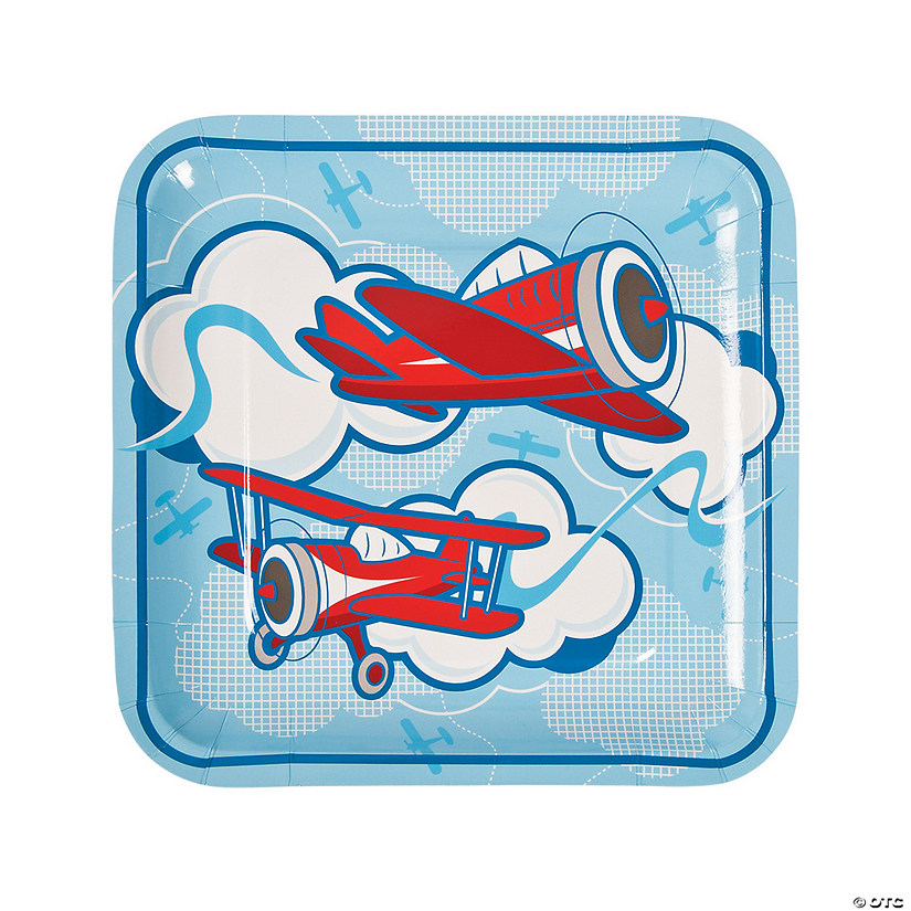 Up & Away Square Paper Dinner Plates - 8 Ct. Audio Thumbnail