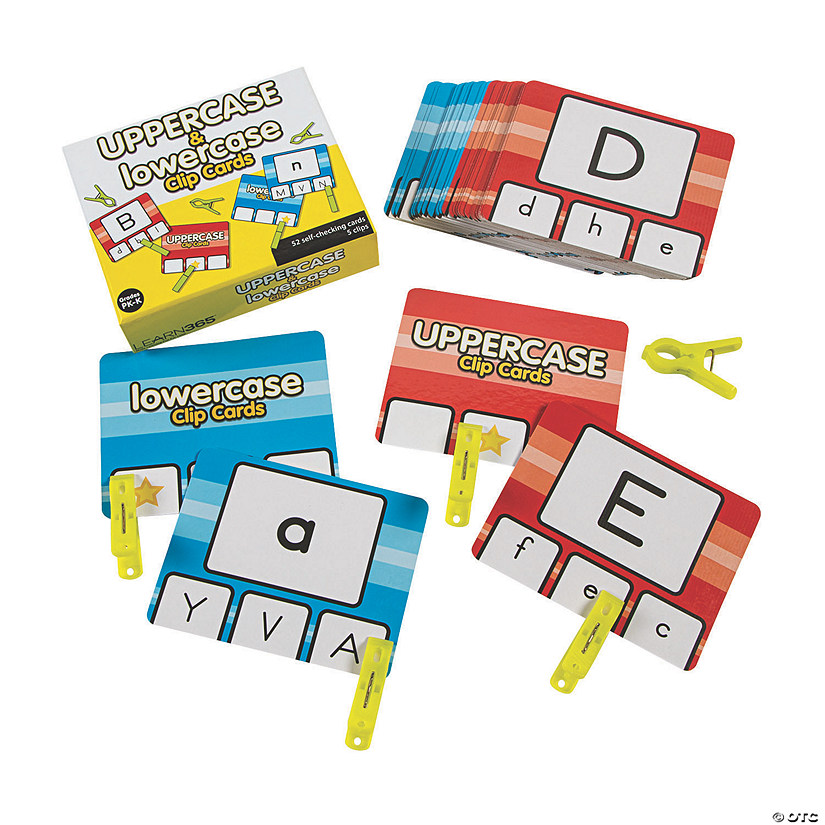 Uppercase & Lowercase Clip Cards Audio Thumbnail