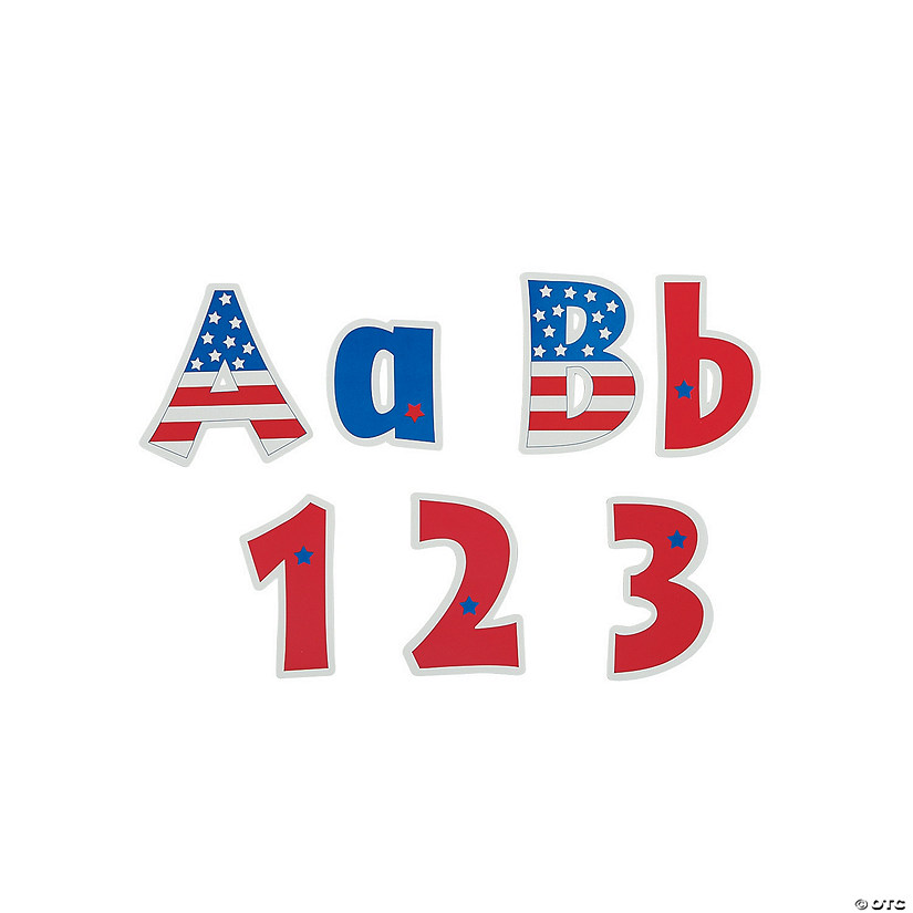 Usa Bulletin Board Letters Numbers Oriental Trading