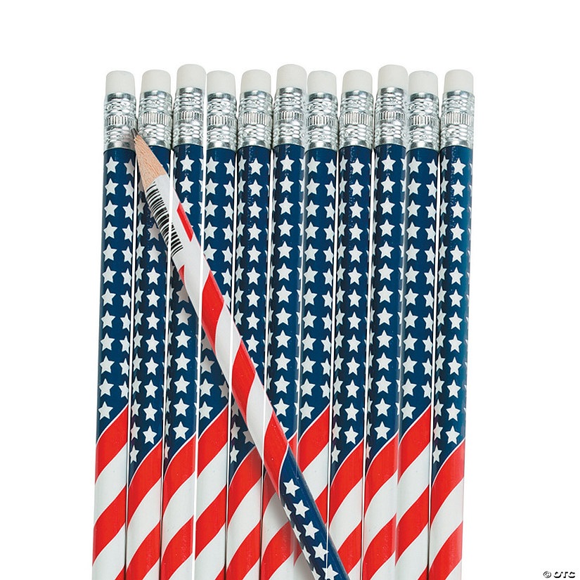 USA Flag Pencils - 24 Pc. Audio Thumbnail