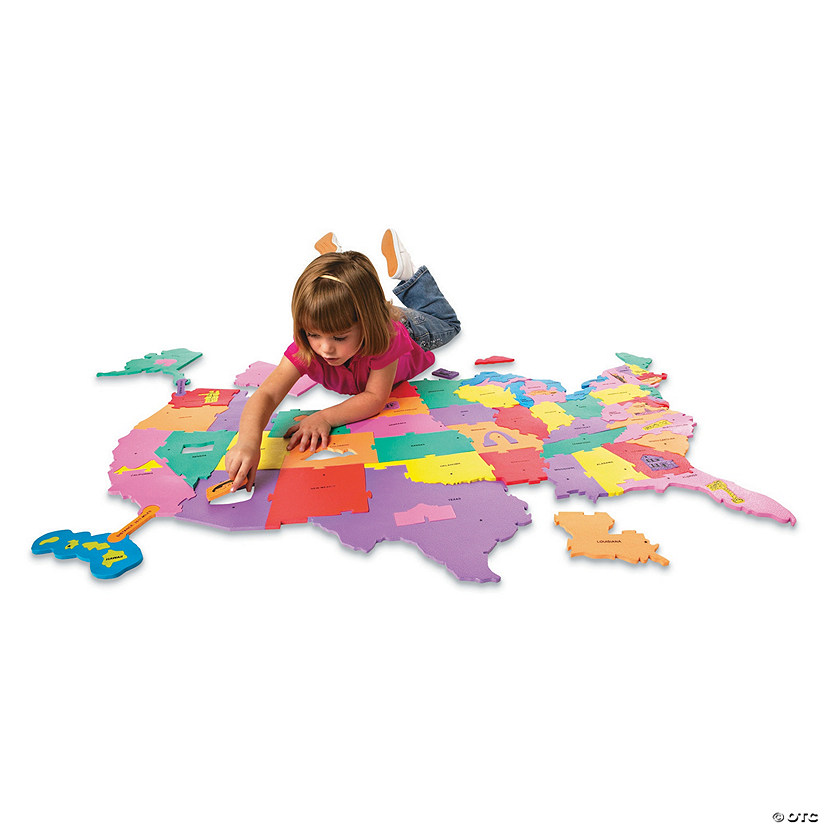 USA Floor Map Puzzle