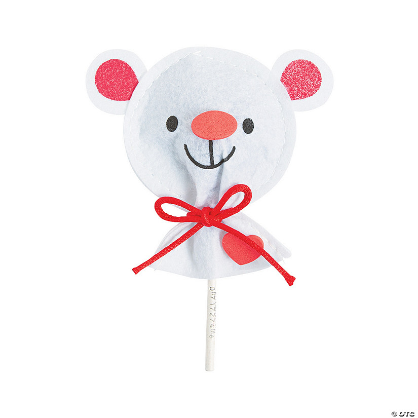 Valentine Bear Lollipop Covers Craft Kit Discontinued