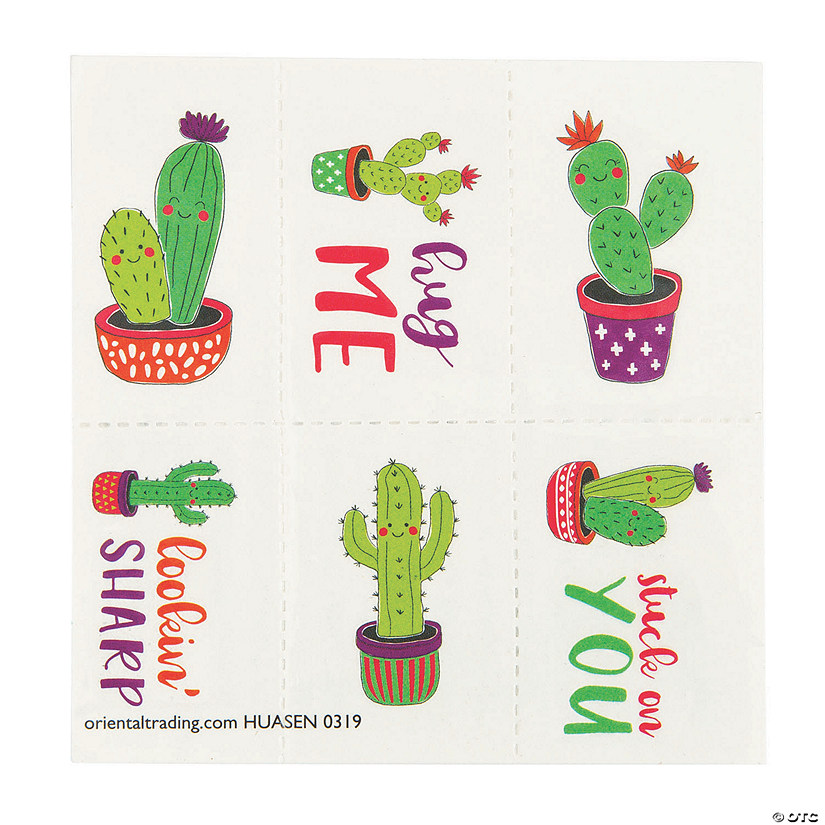 Valentine Cactus Temporary Tattoos Audio Thumbnail