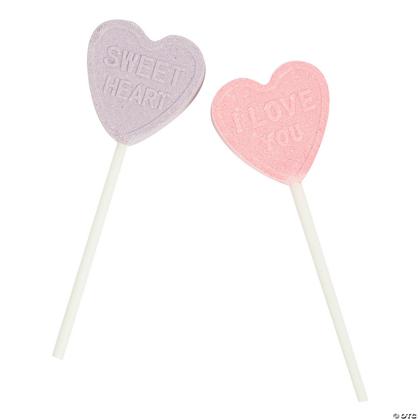 Valentine Conversation Heart Lollipops