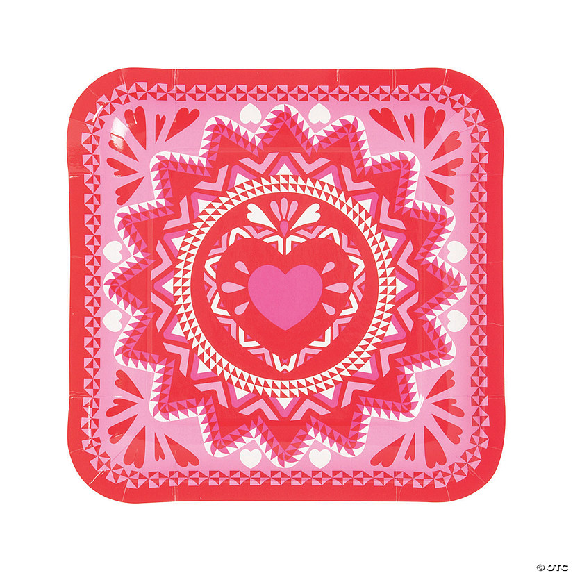 Valentine Fiesta Paper Dinner Plates - 8 Ct. Audio Thumbnail