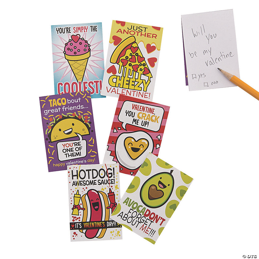 Valentine Food Mini Notepads