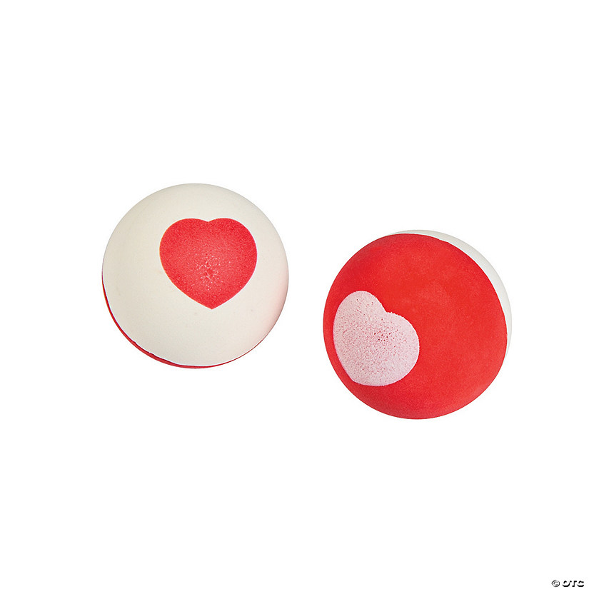 Valentine Heart Bouncy Balls