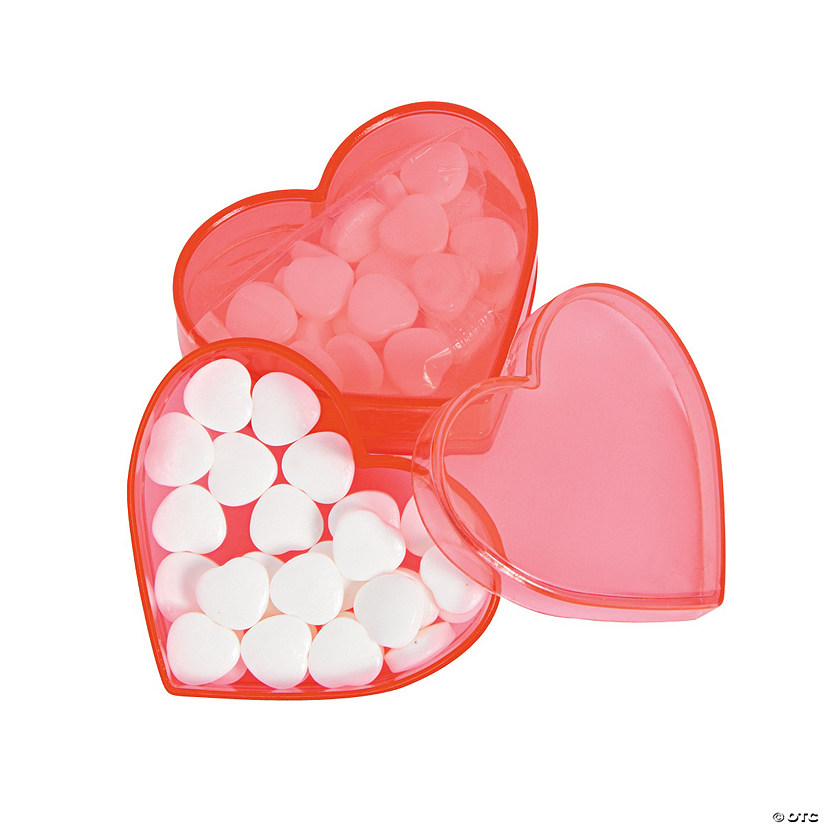 Valentine Heart Filled Candy Favor Containers