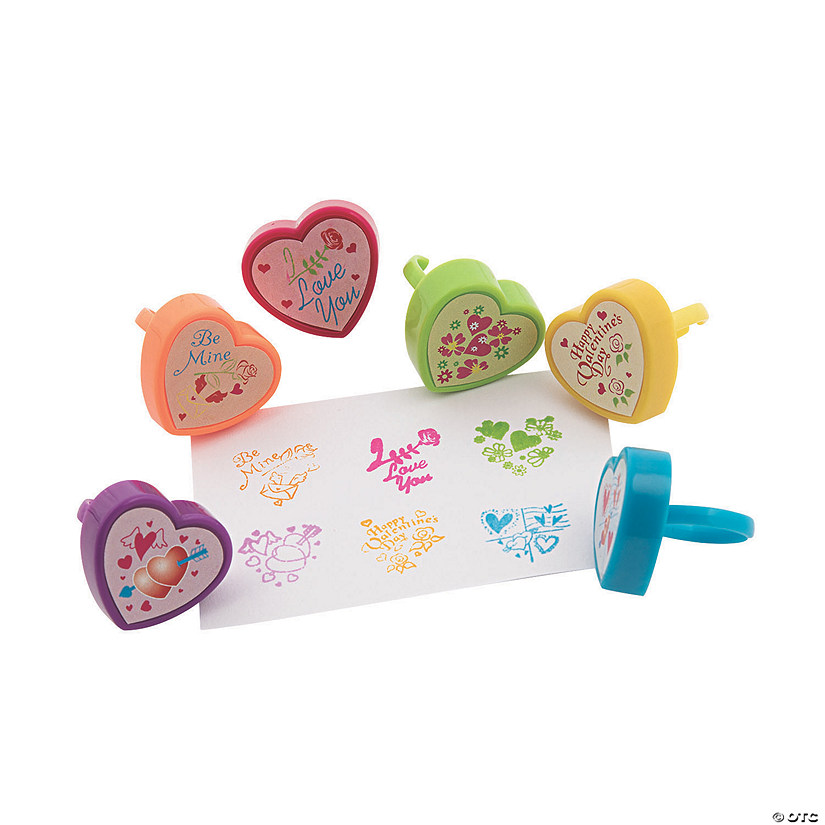 Valentine Heart-Shaped Stamper Rings Audio Thumbnail