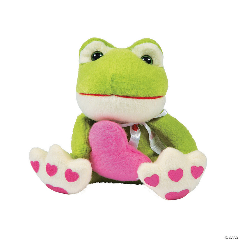 Valentine Heart Stuffed Frogs Image Thumbnail
