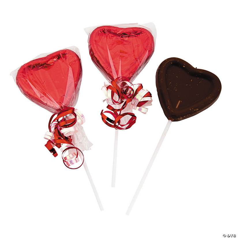 Valentine Heart Suckers Chocolate Candy