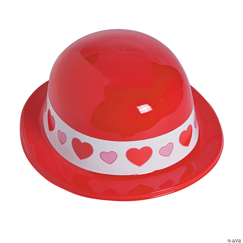 Valentine Hearts Derby Hats Image Thumbnail