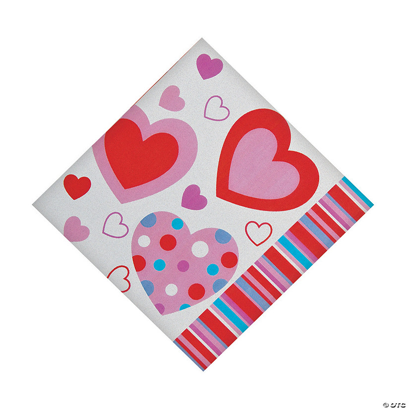 Valentine Hearts Luncheon Napkins Audio Thumbnail