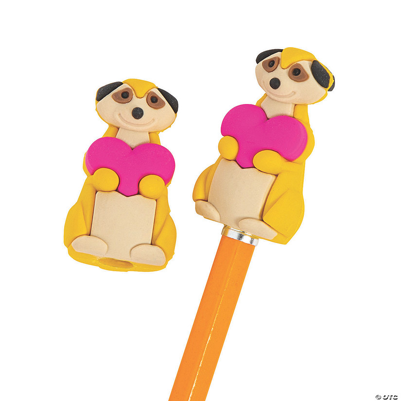 Valentine Meerkat Pencil Toppers Image Thumbnail