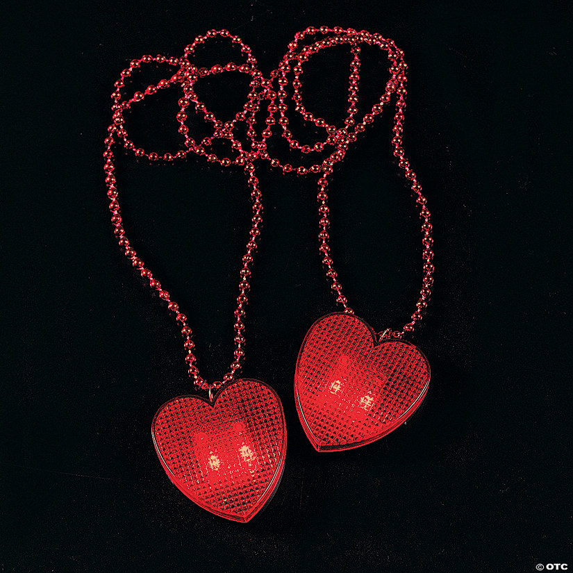 Valentine Necklaces with Light-Up Heart Audio Thumbnail