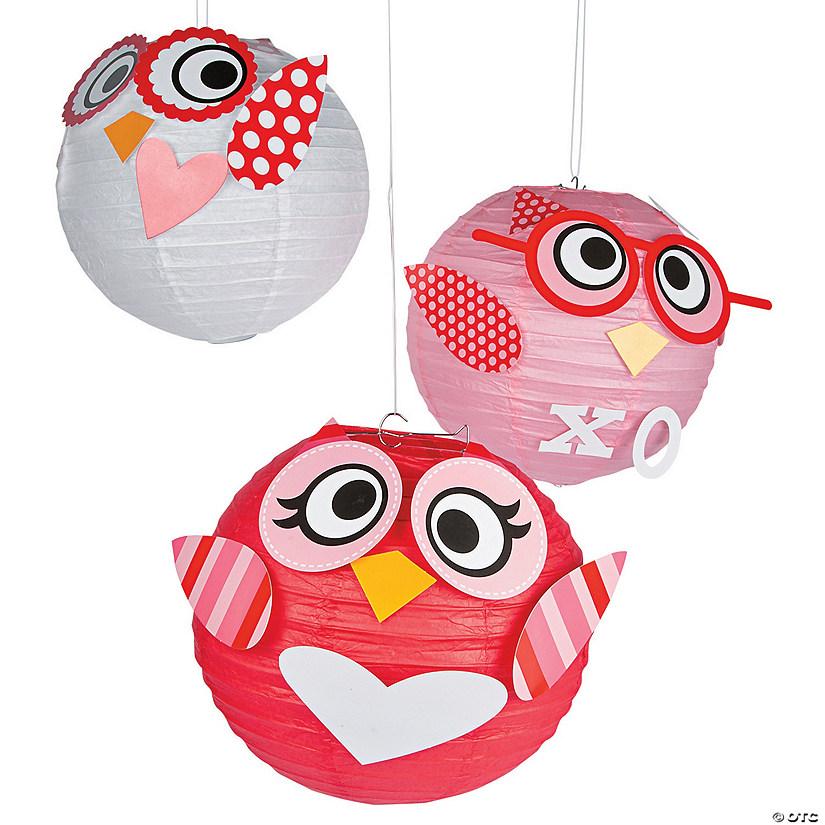 Valentine Owl Hanging Paper Lanterns