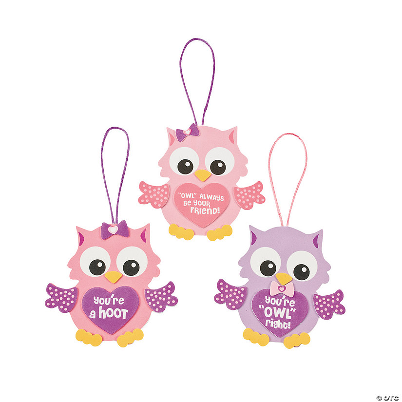 Valentine Owl Ornament Craft Kit Audio Thumbnail