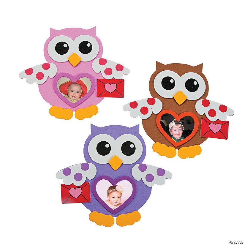 Valentine Owl Picture Frame Magnet Craft Kit Audio Thumbnail