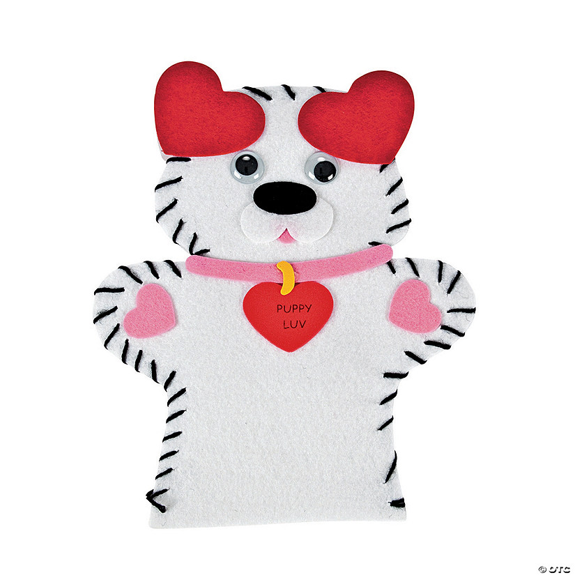 "Valentine ""Puppy Luv"" Lacing Puppet Craft Kit"
