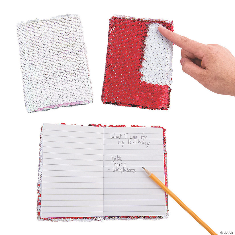 Valentine Reversible Sequin Notebooks