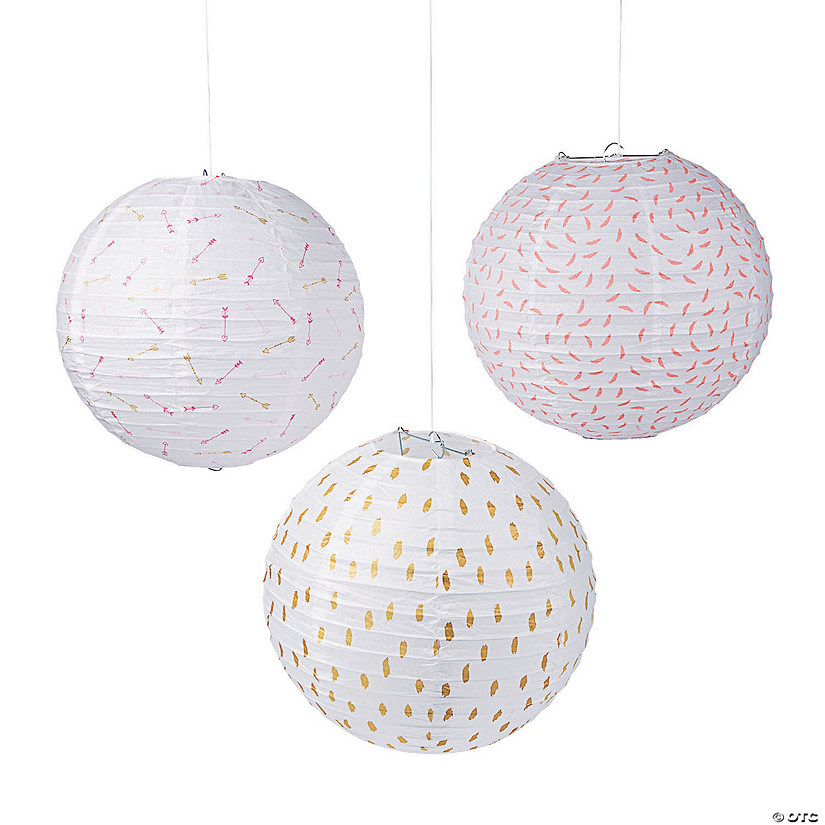 Valentine's Day Hanging Paper Lanterns