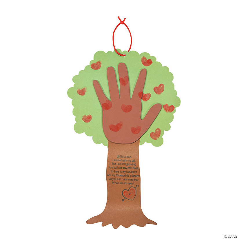 Valentine Tree Thumbprint Poem Craft Kit Image Thumbnail