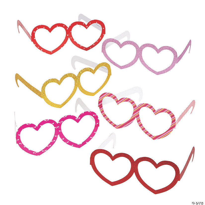 Valentine Unicorn Heart Glasses Image Thumbnail