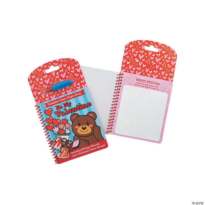 Valentine Water Magic Activity Book & Pen Sets Image Thumbnail