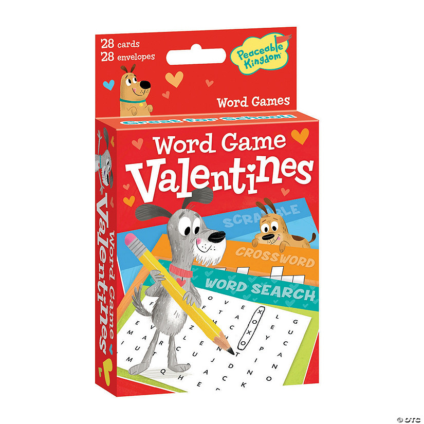 Valentine Word Games Card Pack Image Thumbnail