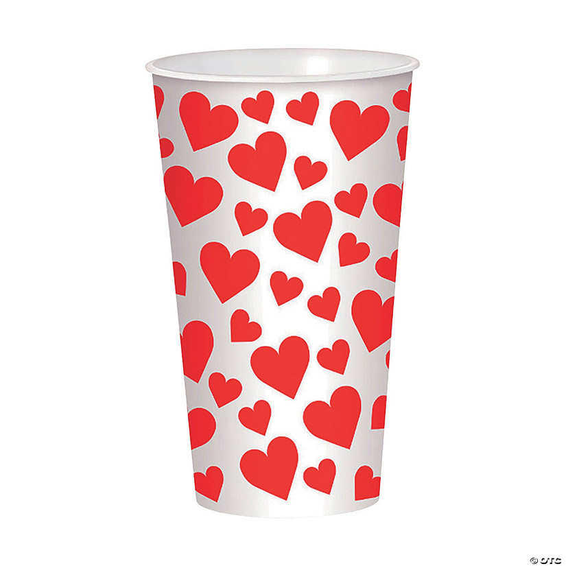 Valentine's Day Hearts Plastic Cup