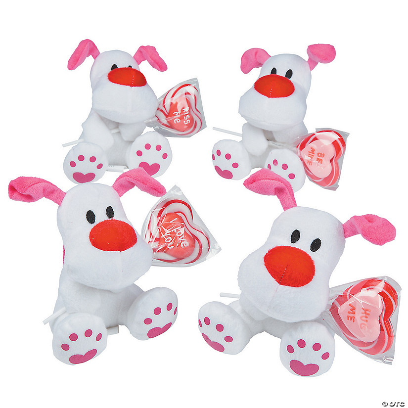 Valentine's Day Stuffed Dogs with Lollipops Exchanges Audio Thumbnail