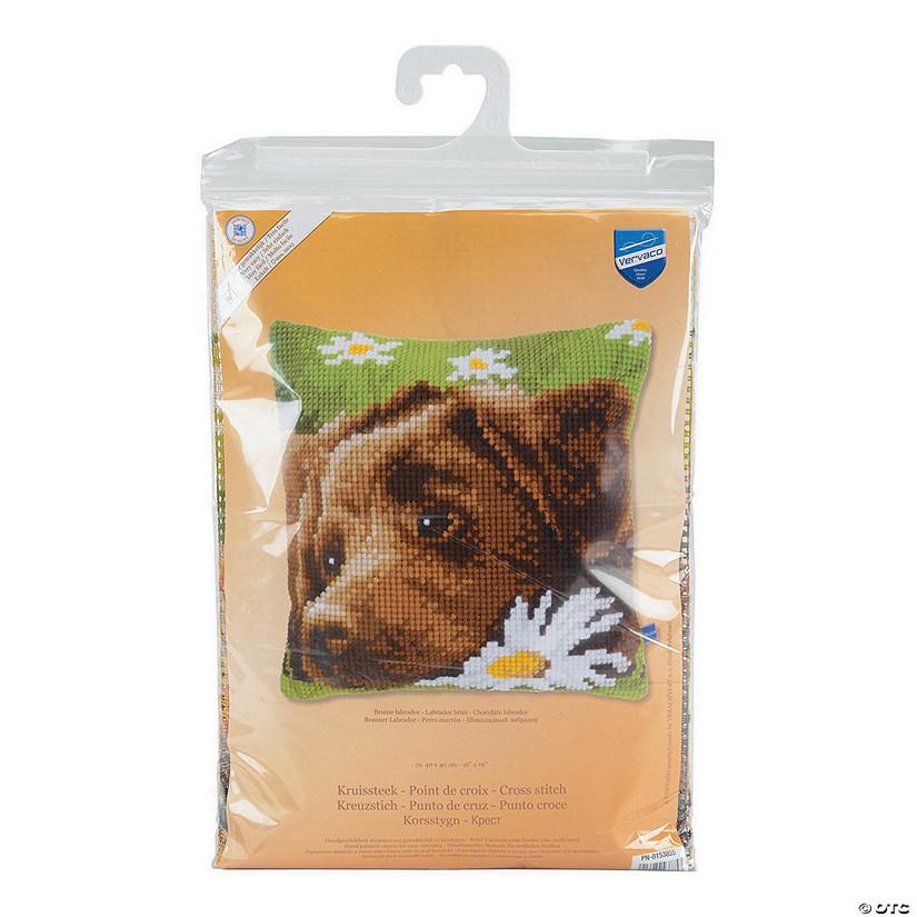 Vervaco Needlepoint Cushion Top Kit - Chocolate Labrador