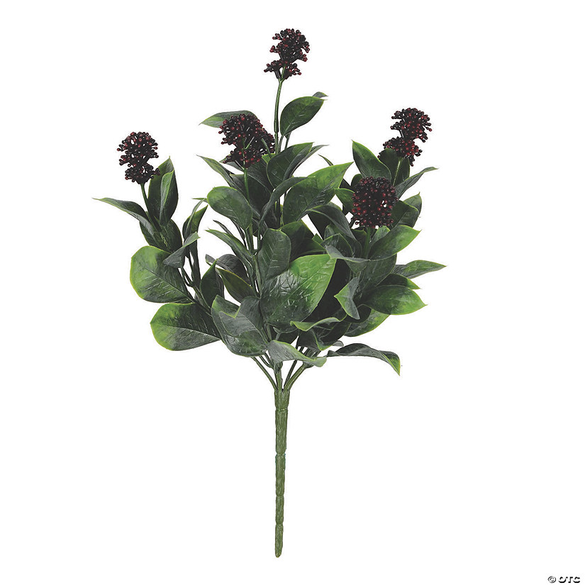 "Vickerman 13.5"" Artificial Blueberry Ficus Bush UV Coated Audio Thumbnail"
