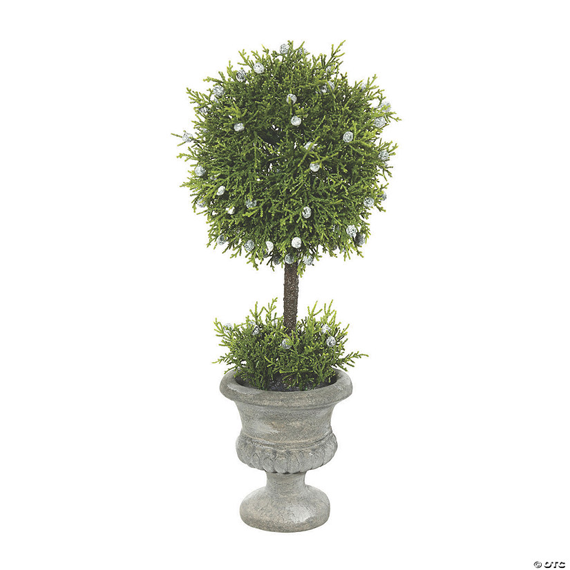 "Vickerman 15"" Artificial Green Oregan Juniper Topiary Audio Thumbnail"