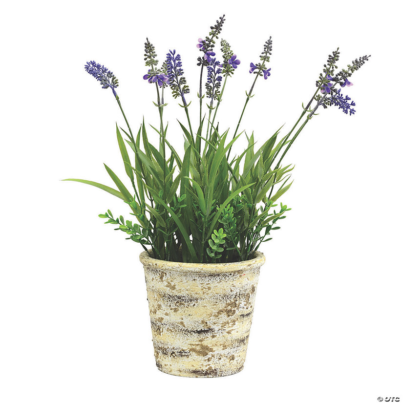 "Vickerman 16.5"" Artificial Lavender in Round Paper Pot Audio Thumbnail"