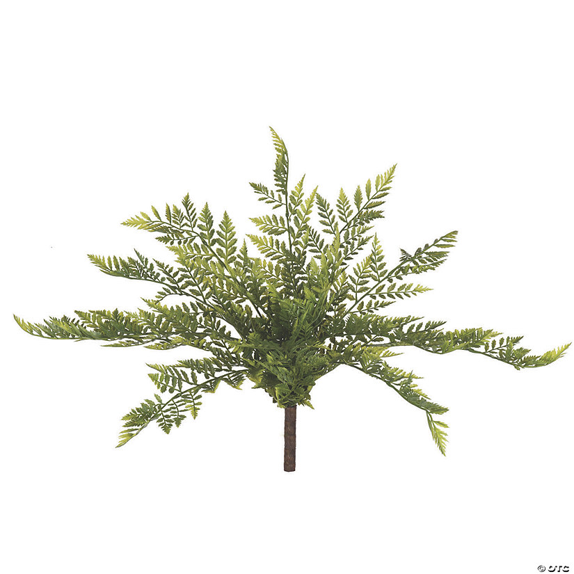 "Vickerman 17"" Artificial Green Rabbit Foot Fern Bush - 2/pk Audio Thumbnail"