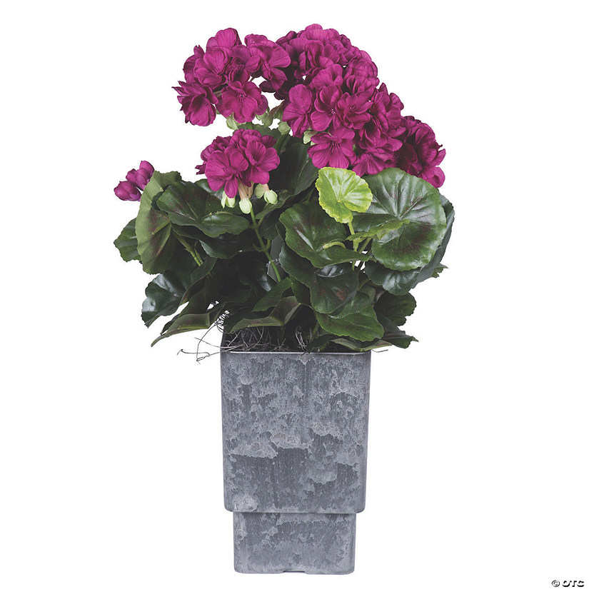 "Vickerman 17"" Artificial Purple Geranium And Green Leaves Audio Thumbnail"
