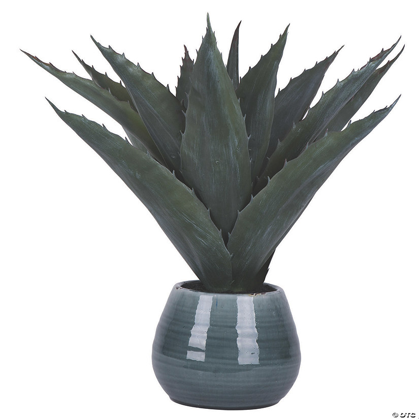 "Vickerman 18"" Artificial Green Succulent in Ceramic Pot Audio Thumbnail"