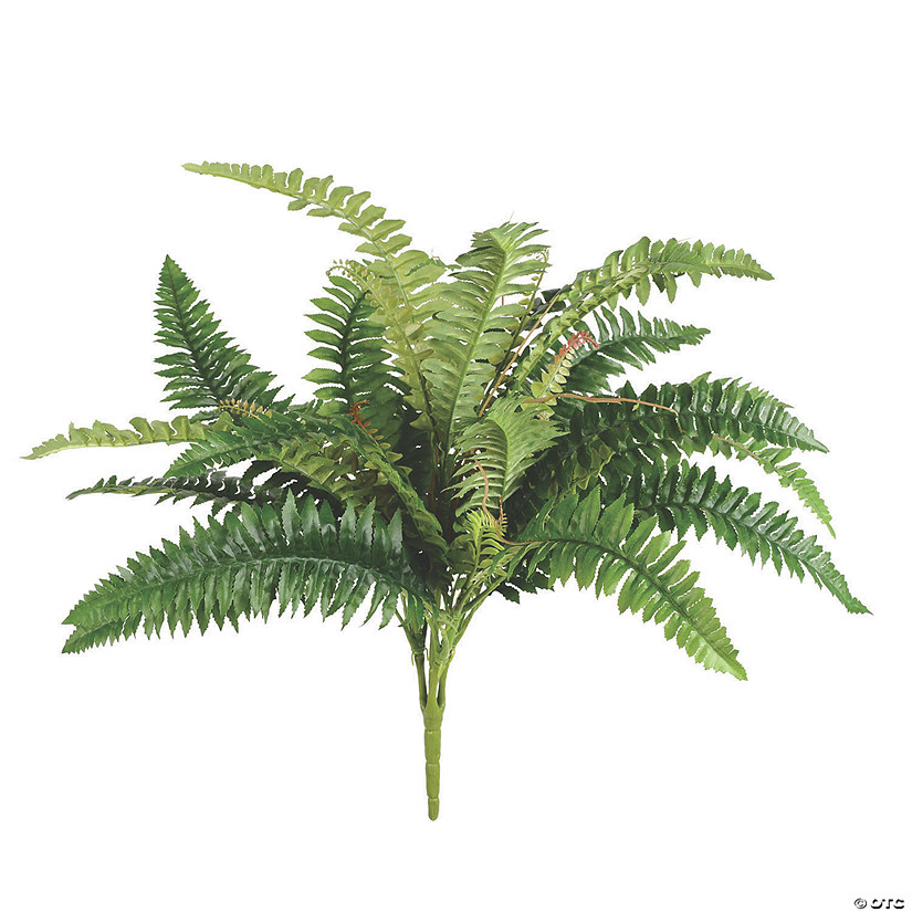 "Vickerman 19"" Artificial Green Fern Bush with 31 Leaves Audio Thumbnail"