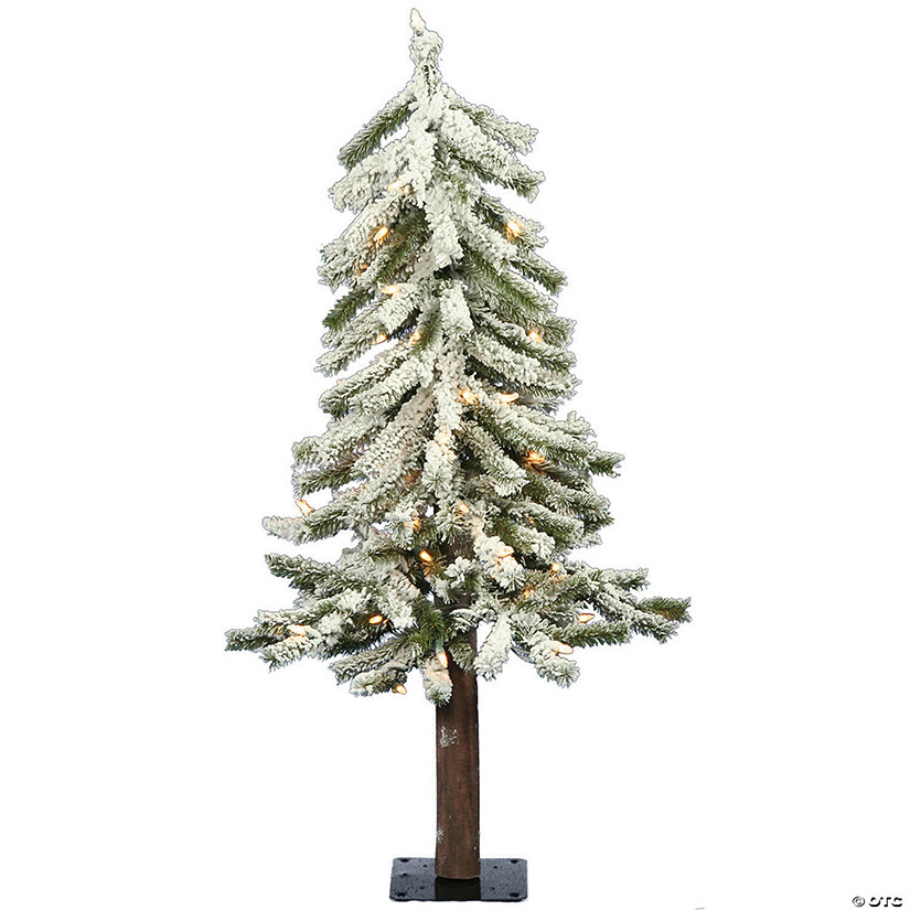 Vickerman 2' Flocked Alpine Christmas Tree with Clear Lights Audio Thumbnail