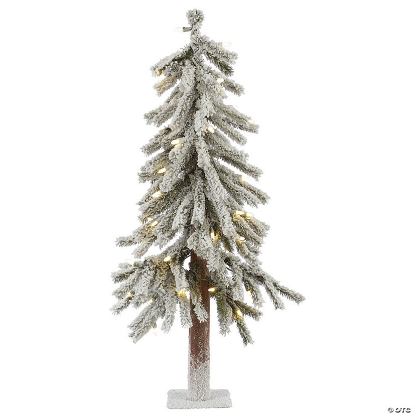 Vickerman 2' Flocked Alpine Christmas Tree with Warm White LED Lights Image Thumbnail