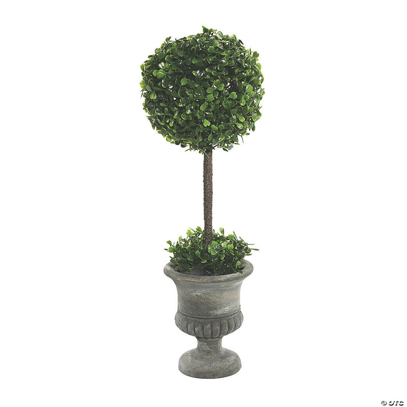 "Vickerman 21"" Artificial Green Boxwood Topiary In Container Image Thumbnail"