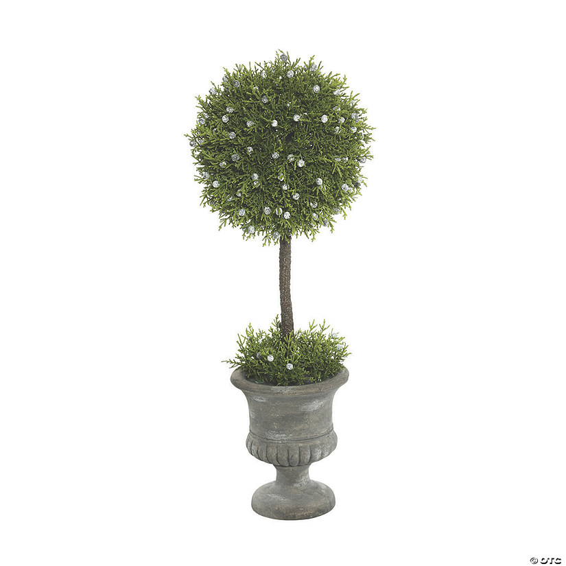 "Vickerman 21"" Artificial Green Oregan Juniper Topiary In Container Audio Thumbnail"