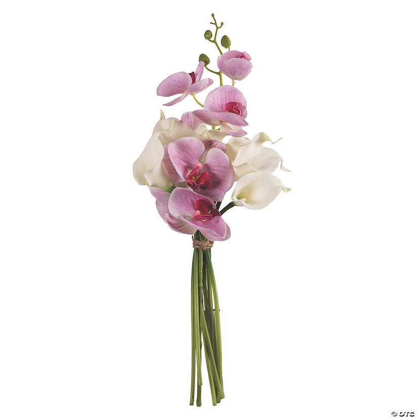 "Vickerman 21"" Pink Orchid with White Calla Lily Bundle Audio Thumbnail"