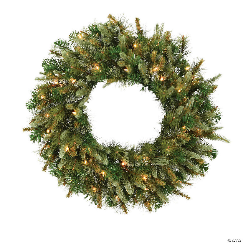 "Vickerman 24"" Cashmere Christmas Wreath with Clear Lights Image Thumbnail"