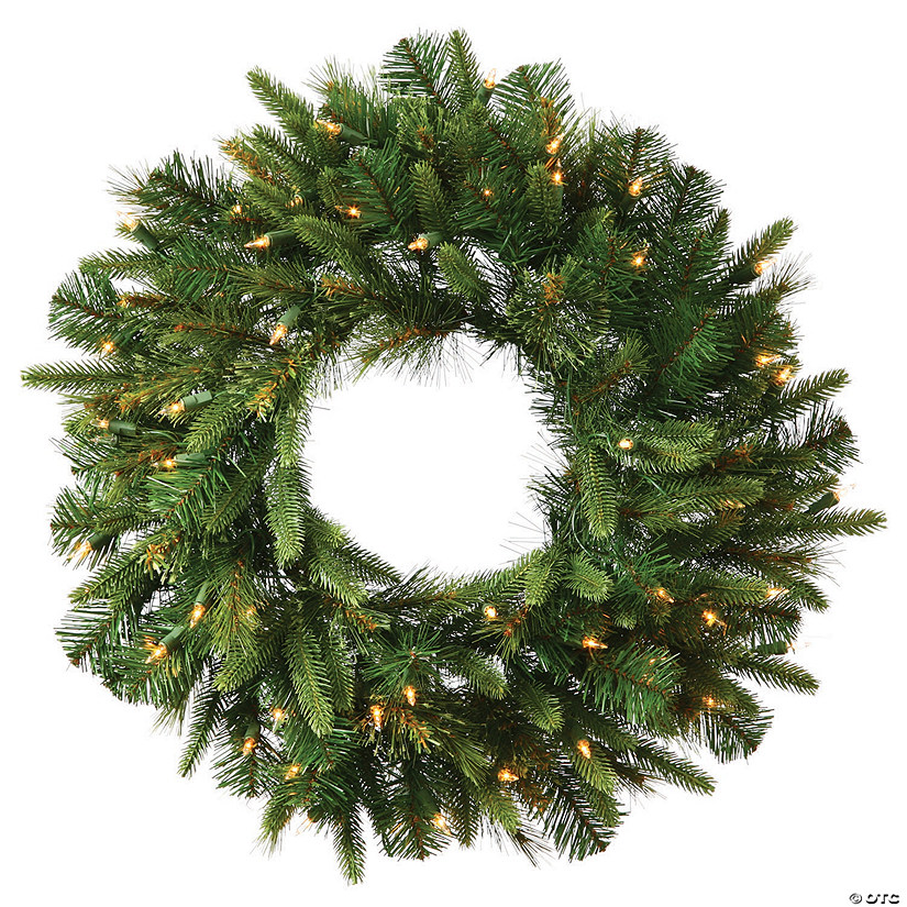 "Vickerman 24"" Cashmere Christmas Wreath with Warm White LED Lights Image Thumbnail"